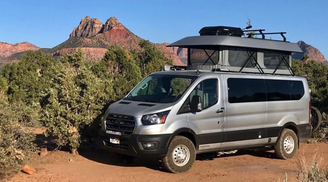 Sun Valley Vanlife rental van in Moab, Utah
